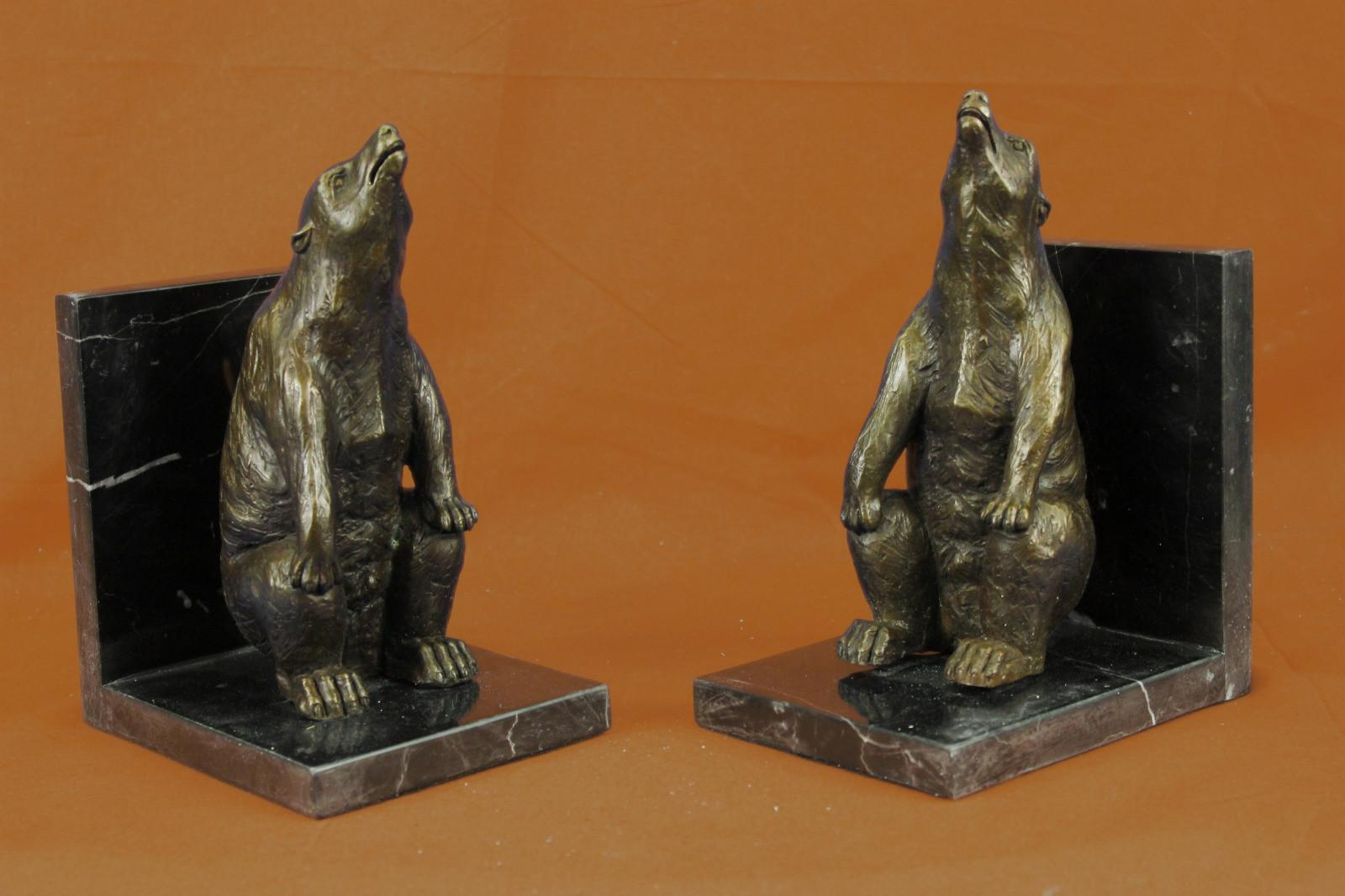 Each Bronze Sculpture Signed Pair Unique Brown