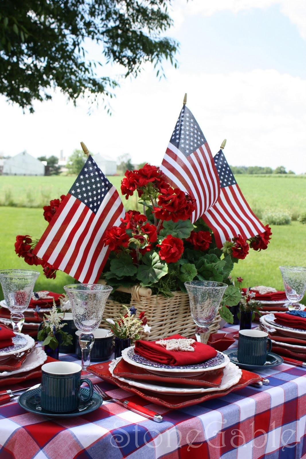 Each Place Setting Mix Red White Blue