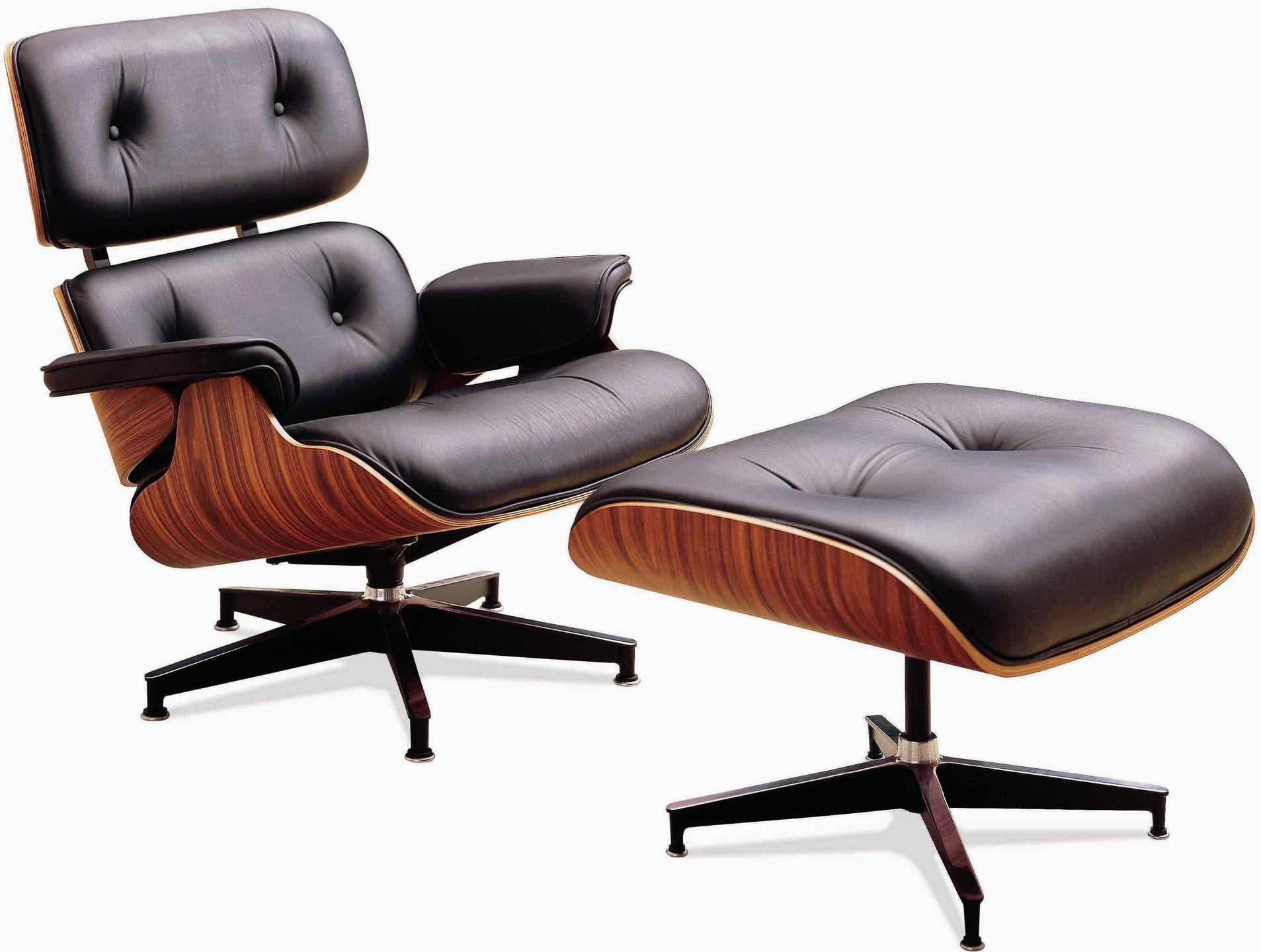 Eames Lounge Chair Wood Black Leather