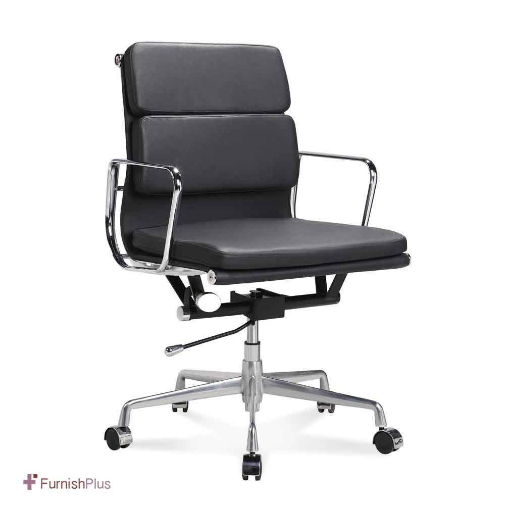 Eames Management Soft Pad Chair Replica Aniline Leather