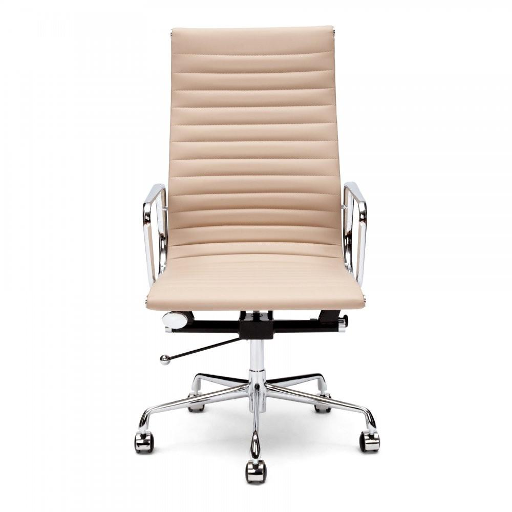 Eames Style Beige Ribbed Office Chair Executive Chairs