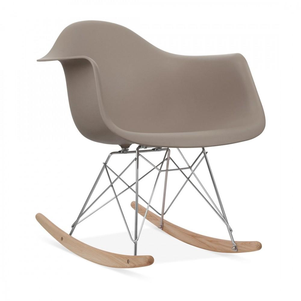 Eames Style Warm Grey Rar Rocker Chair Rocking