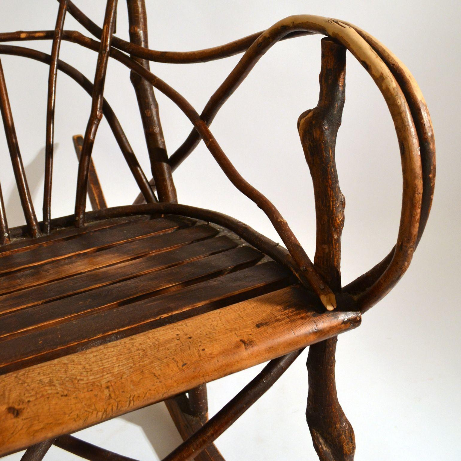Early 20th Century Scandinavian Rocking Chair Bentwood Willow