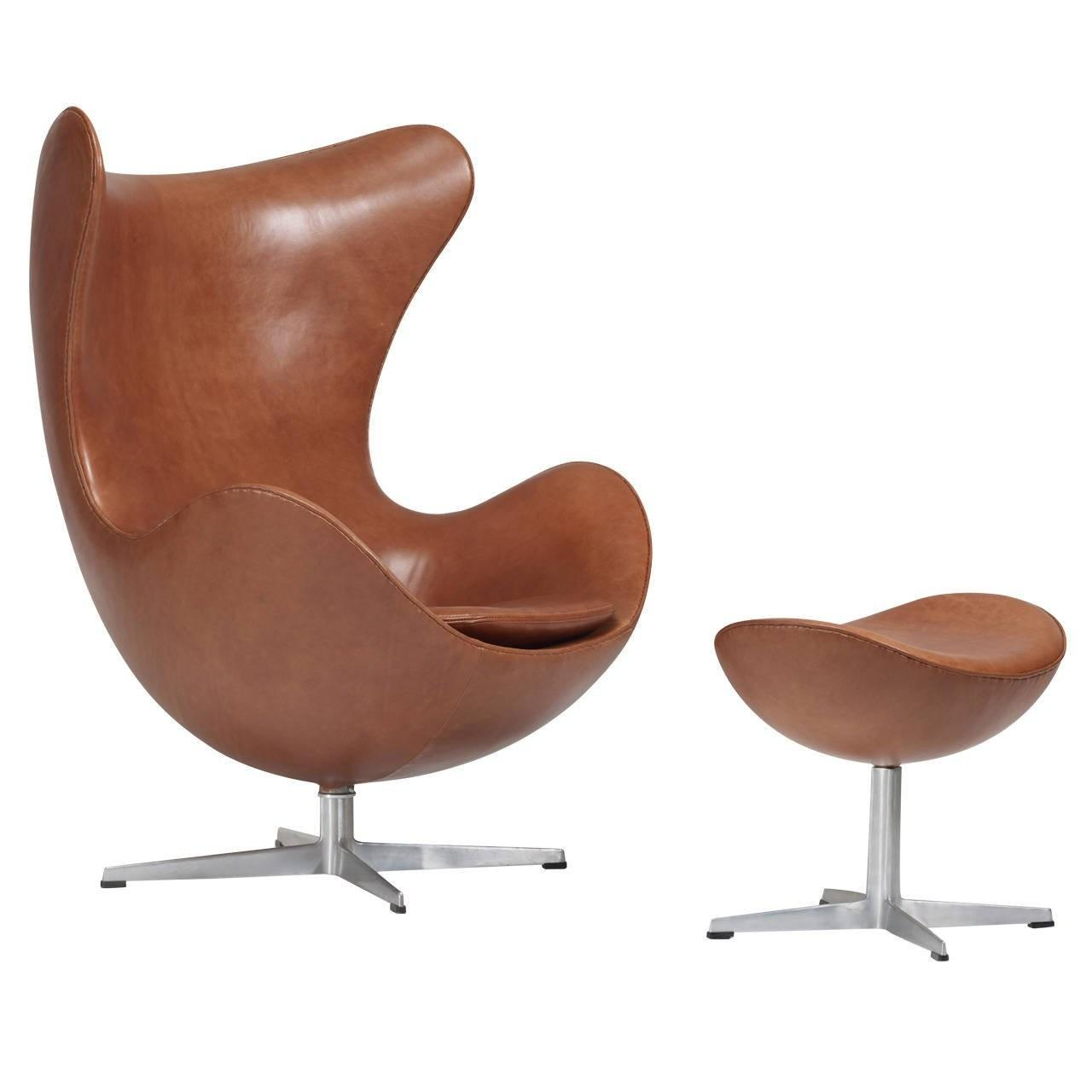 Early Arne Jacobsen Egg Chair Ottoman Fritz Hansen