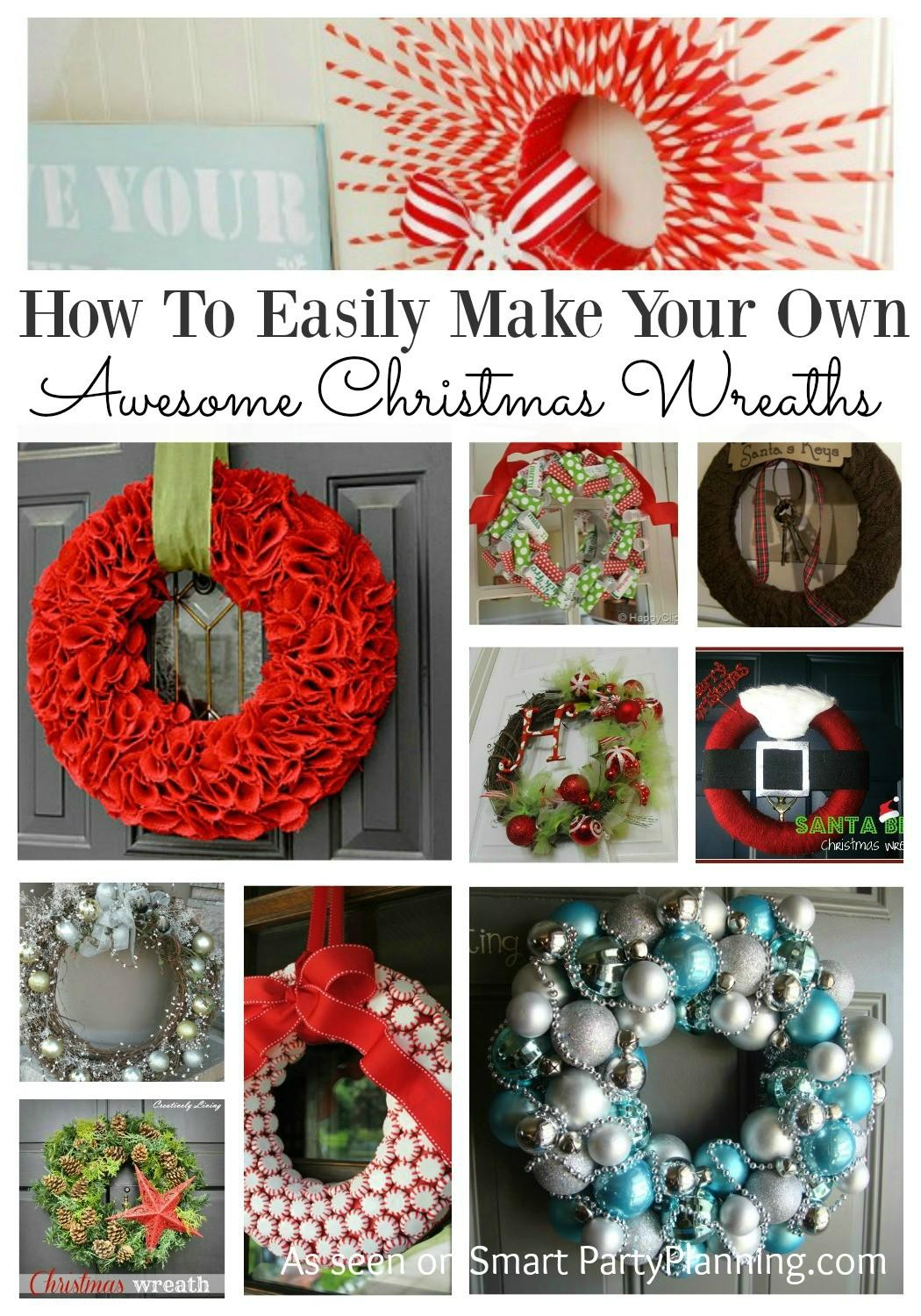 Easily Make Your Own Awesome Christmas Wreaths