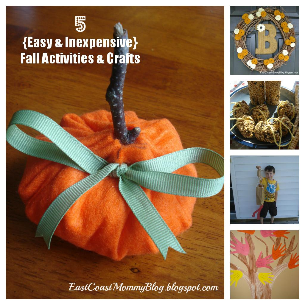 East Coast Mommy Easy Inexpensive Fall Crafts