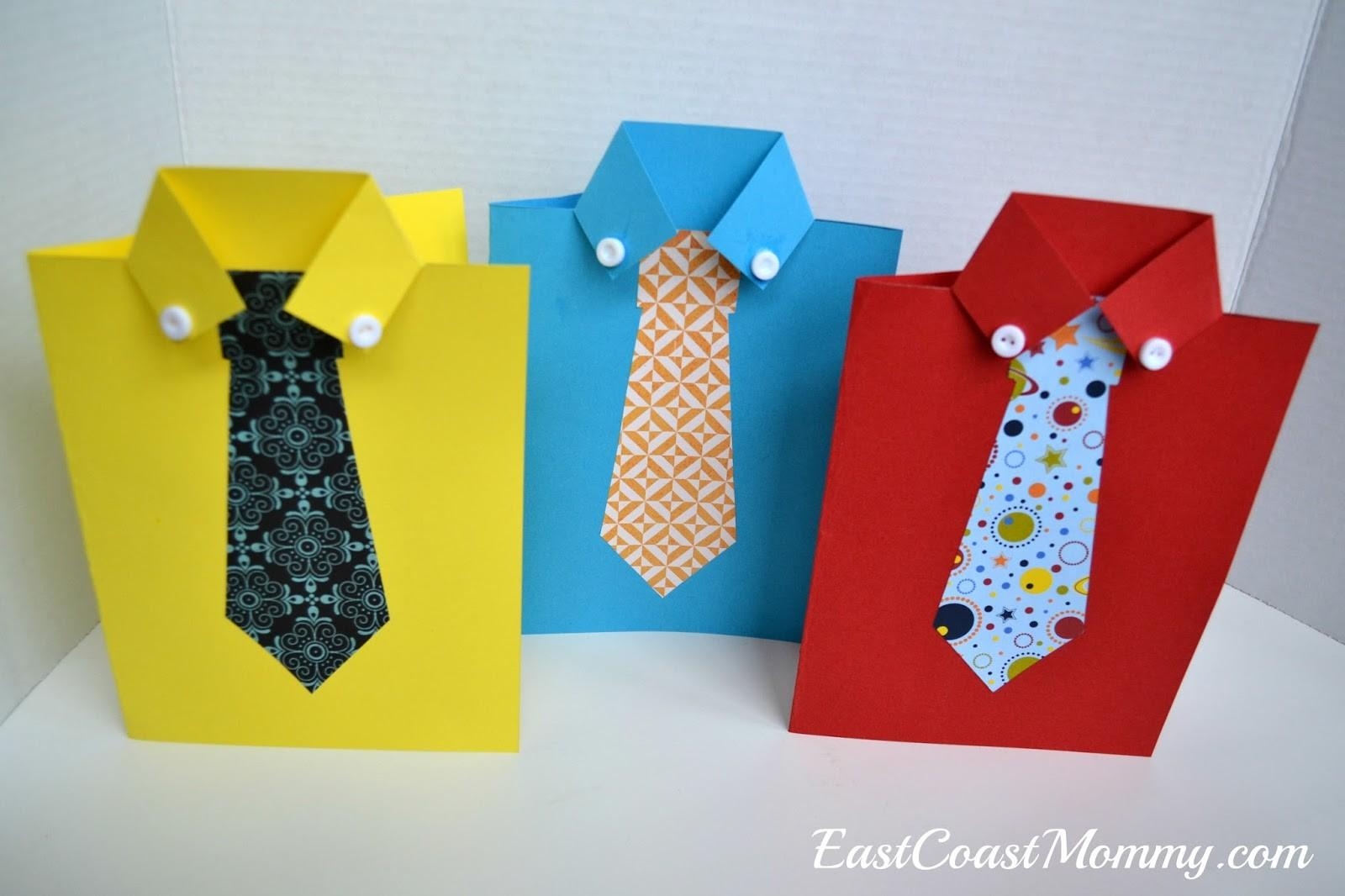 East Coast Mommy Shirt Tie Father Day Card