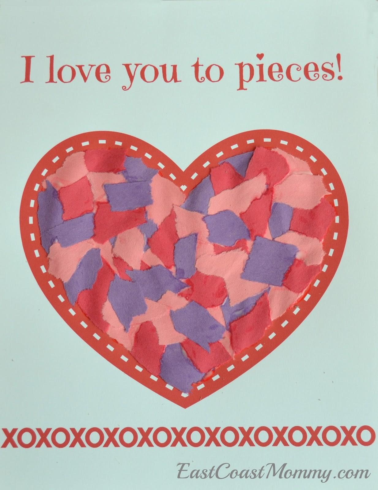 East Coast Mommy Simple Valentine Day Craft