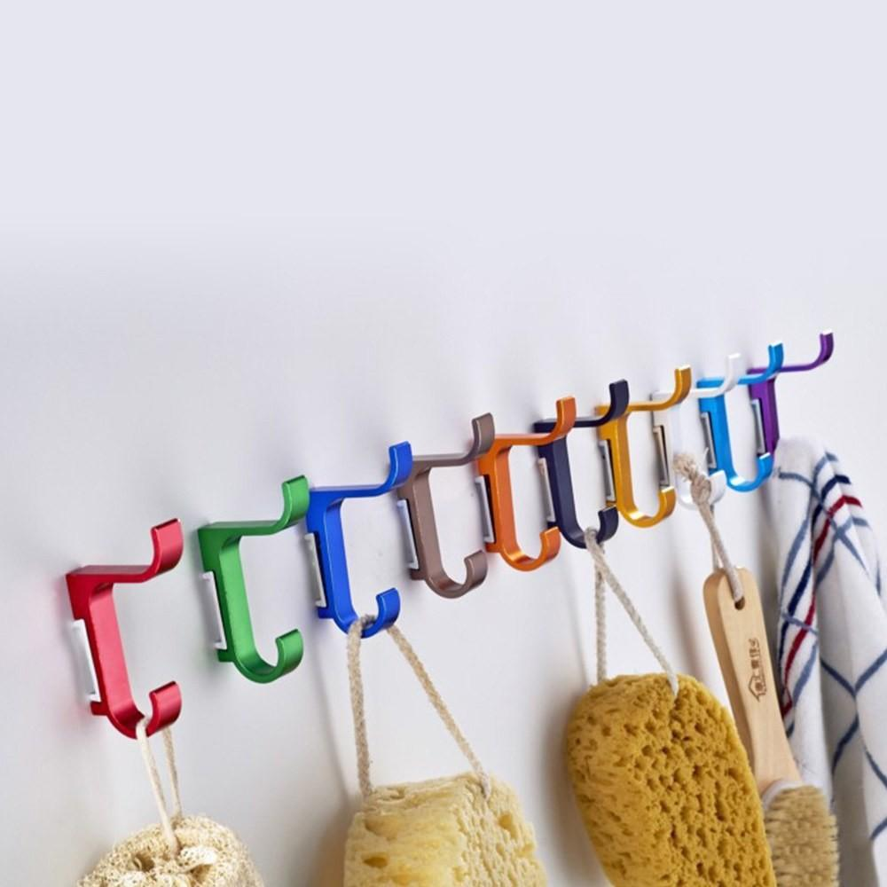 East Colorful Clothing Hooks Space Alumimum Home Diy
