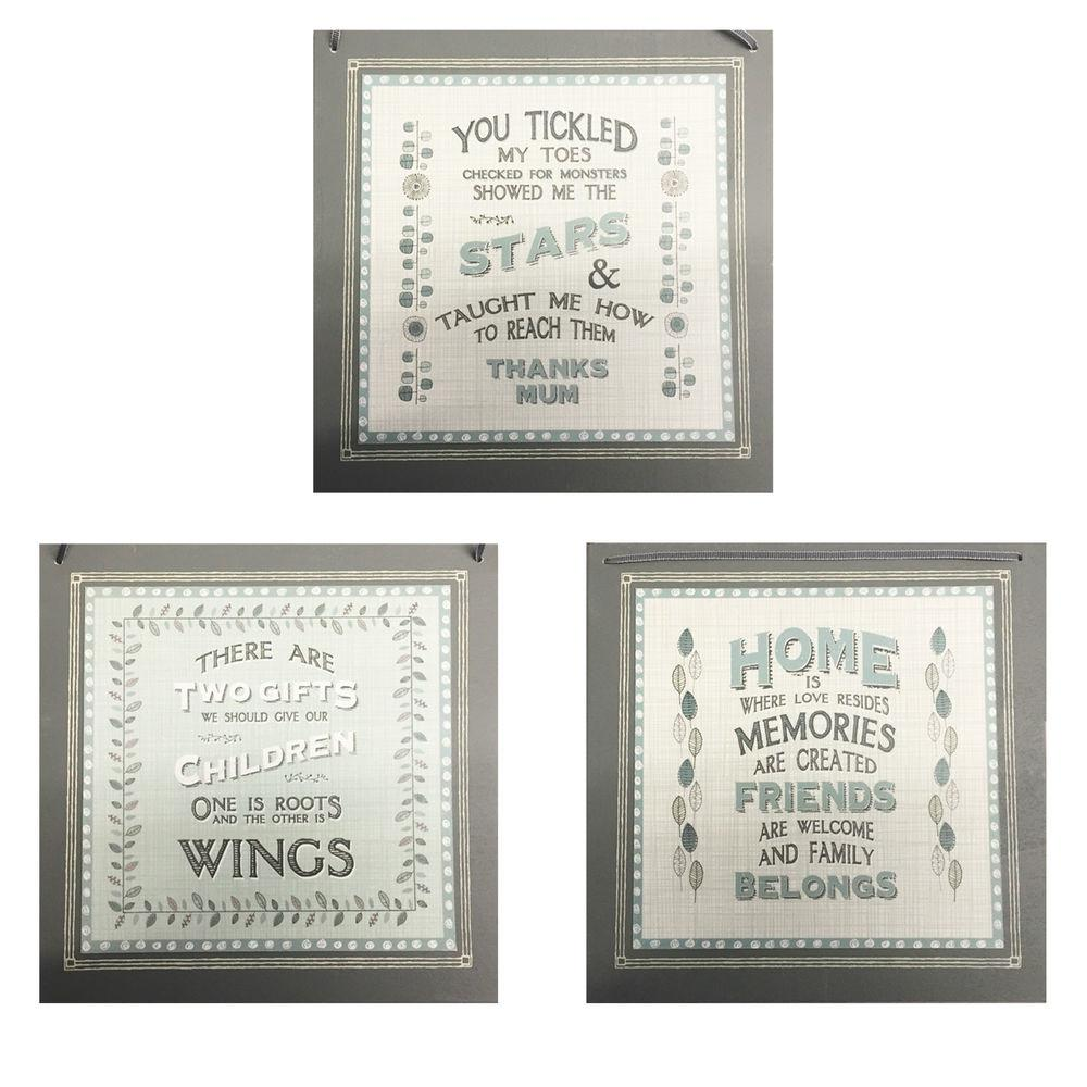East India Wooden Quote Plaque Sign Home Decor