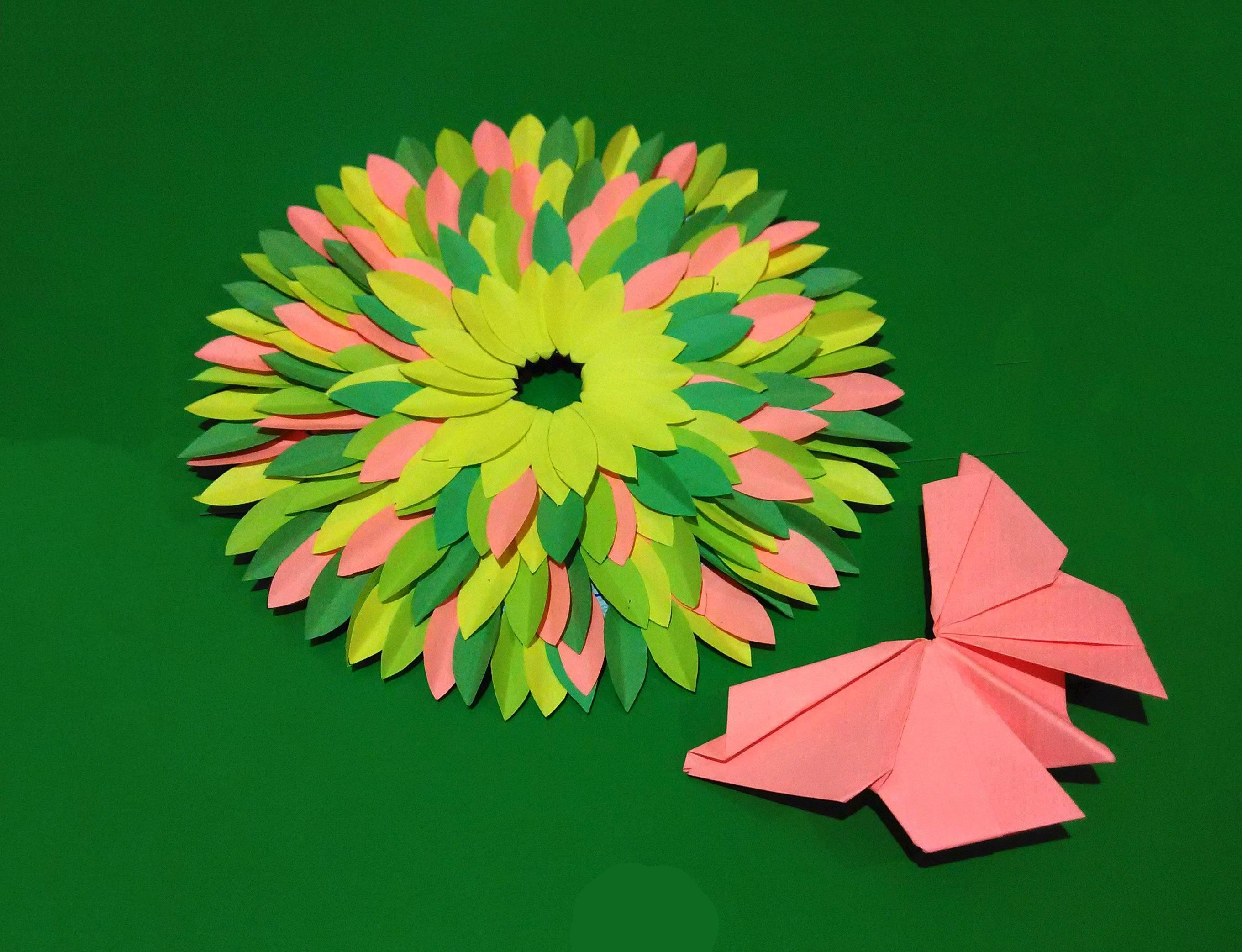 Easter Bright Wreath Easy Paper Spring House