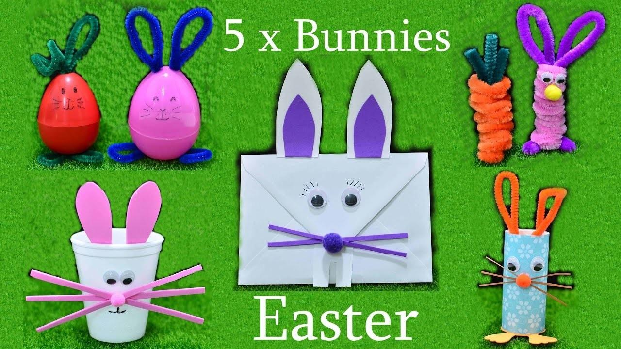 Easter Bunny Chenille Paper Art Craft Kids Play Fun Idea