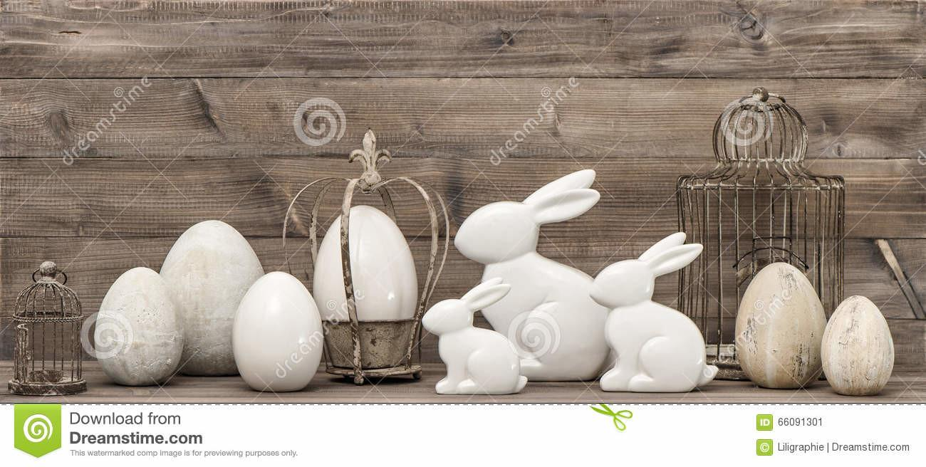 Easter Bunny Eggs Vintage Style Decoration