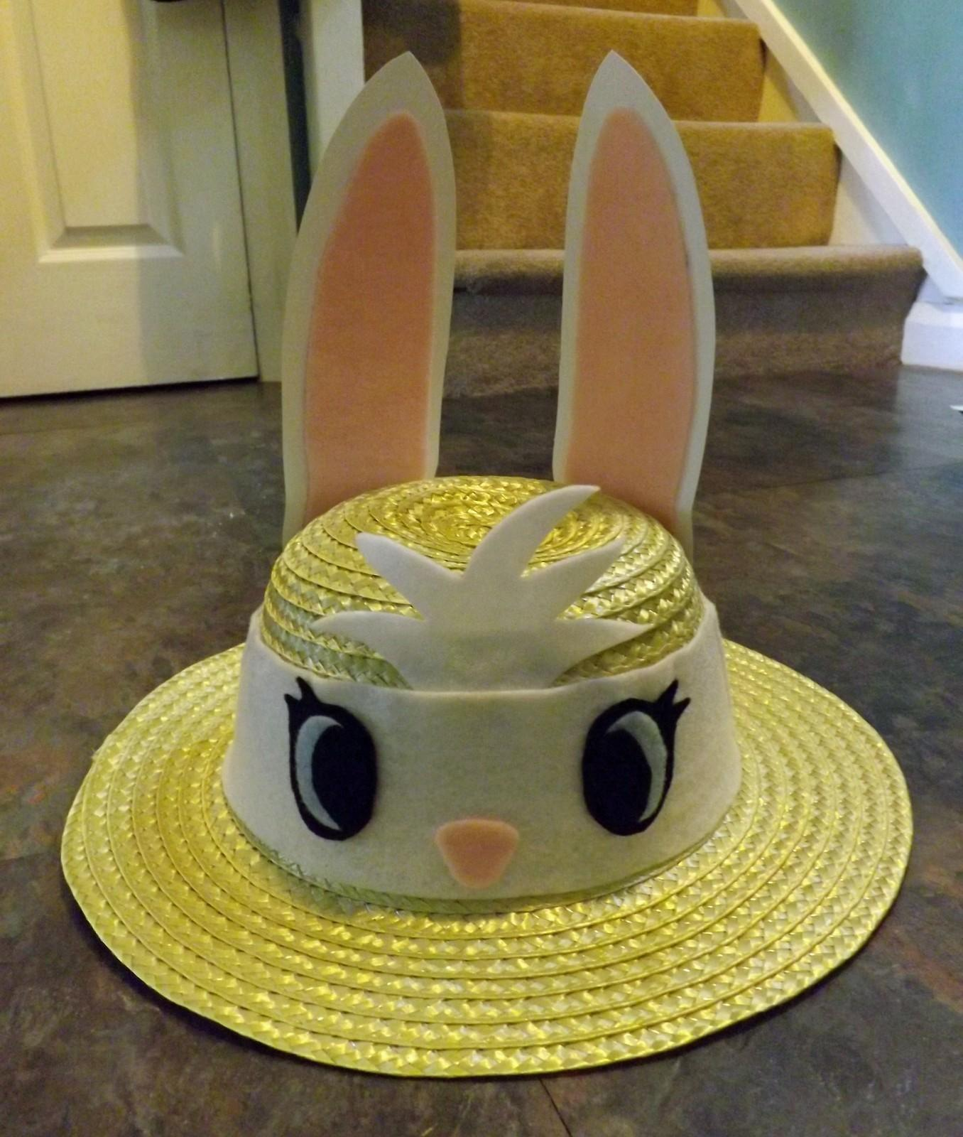 Easter Bunny Hat Bonnet Other Cut Out Keep