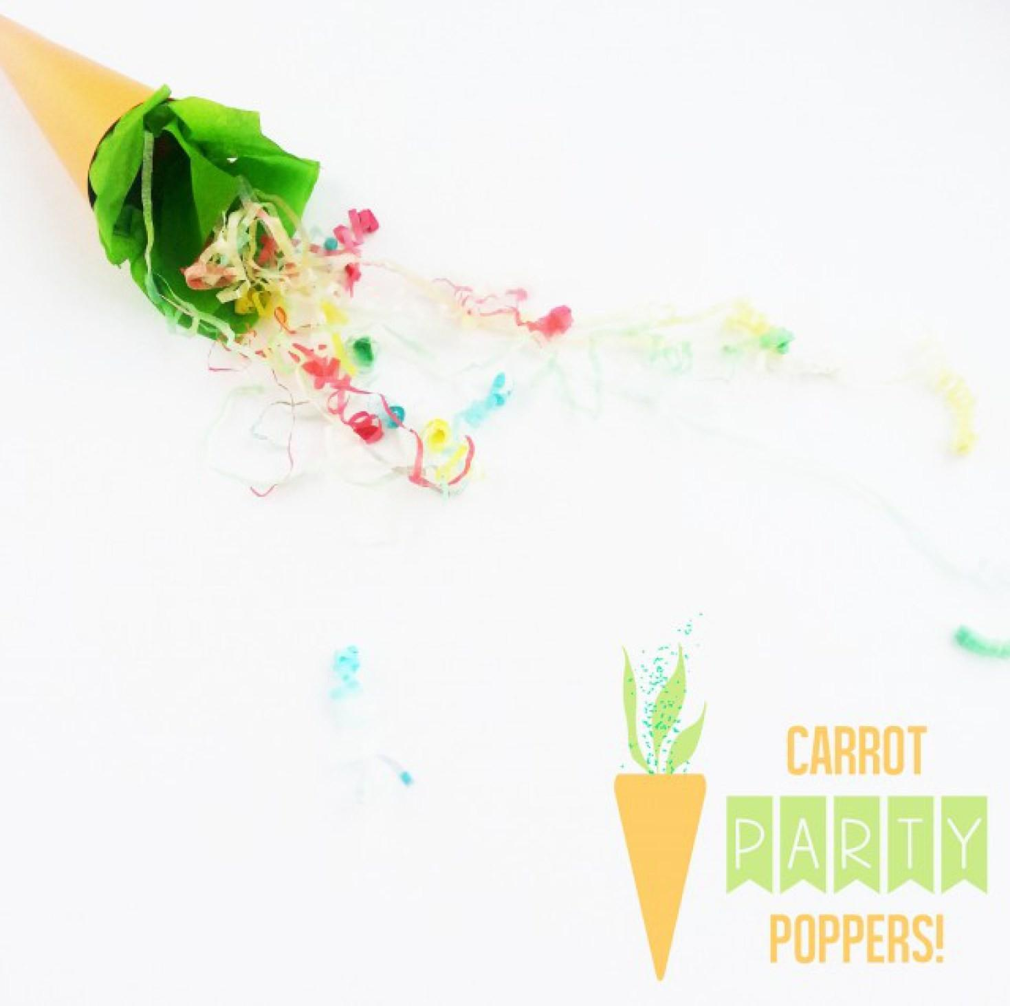 Easter Carrot Party Poppers Joyful Riot