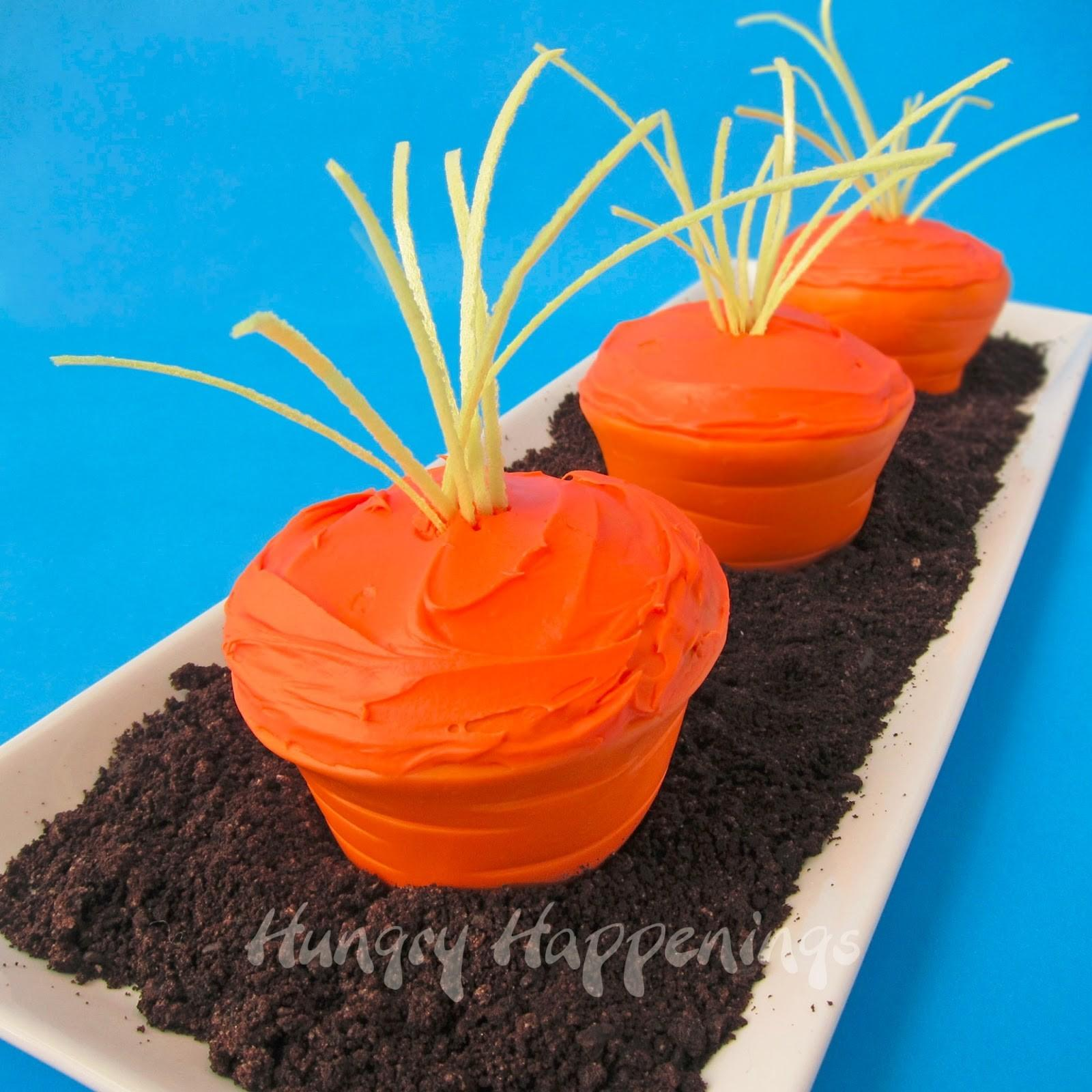 Easter Carrot Top Cupcakes Edible Cupcake Wrappers