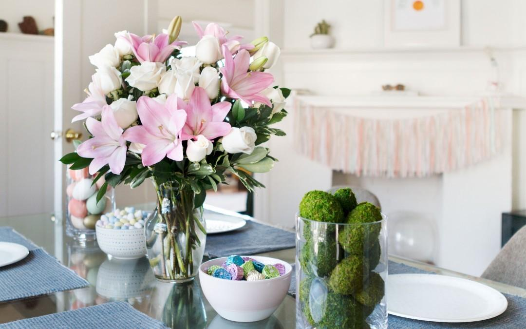 Easter Centerpieces Table