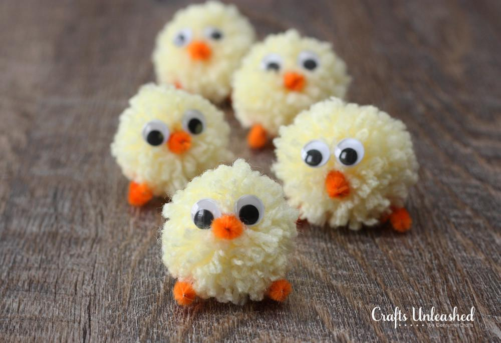 Easter Chicks Pom Yarn Tutorial