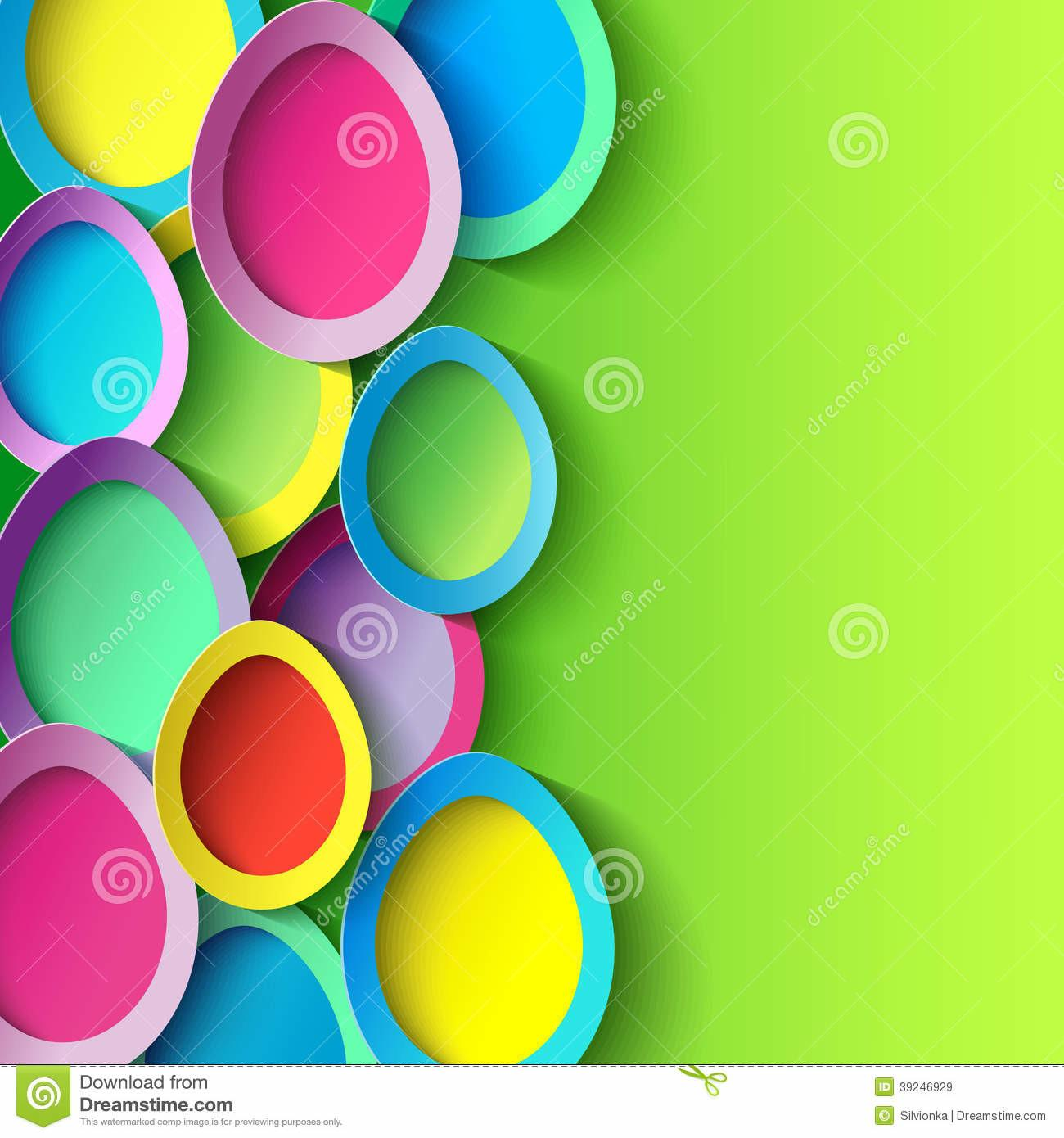 Easter Colorful Egg Stock Vector