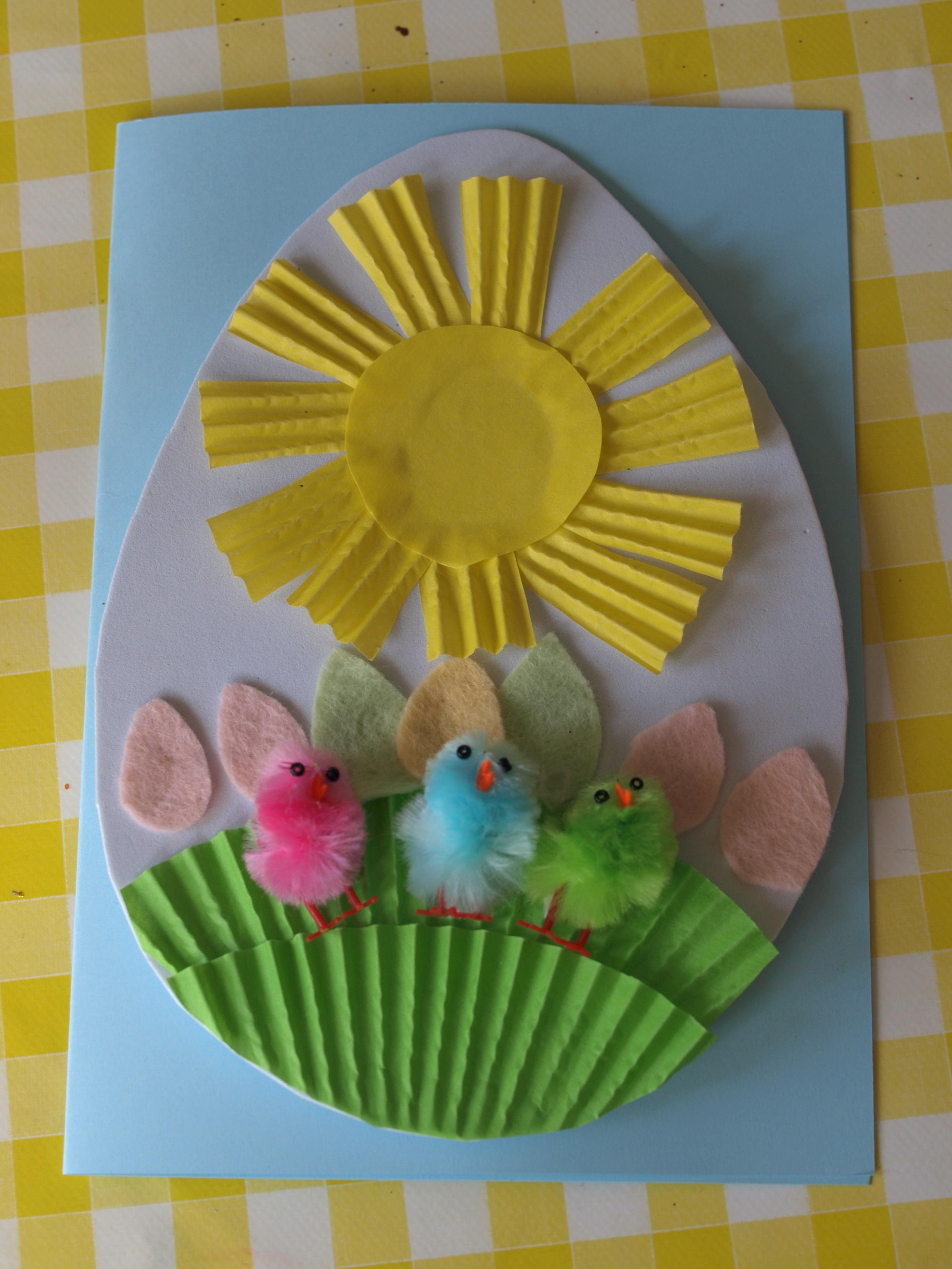 Easter Crafts Kids Here Come Girls