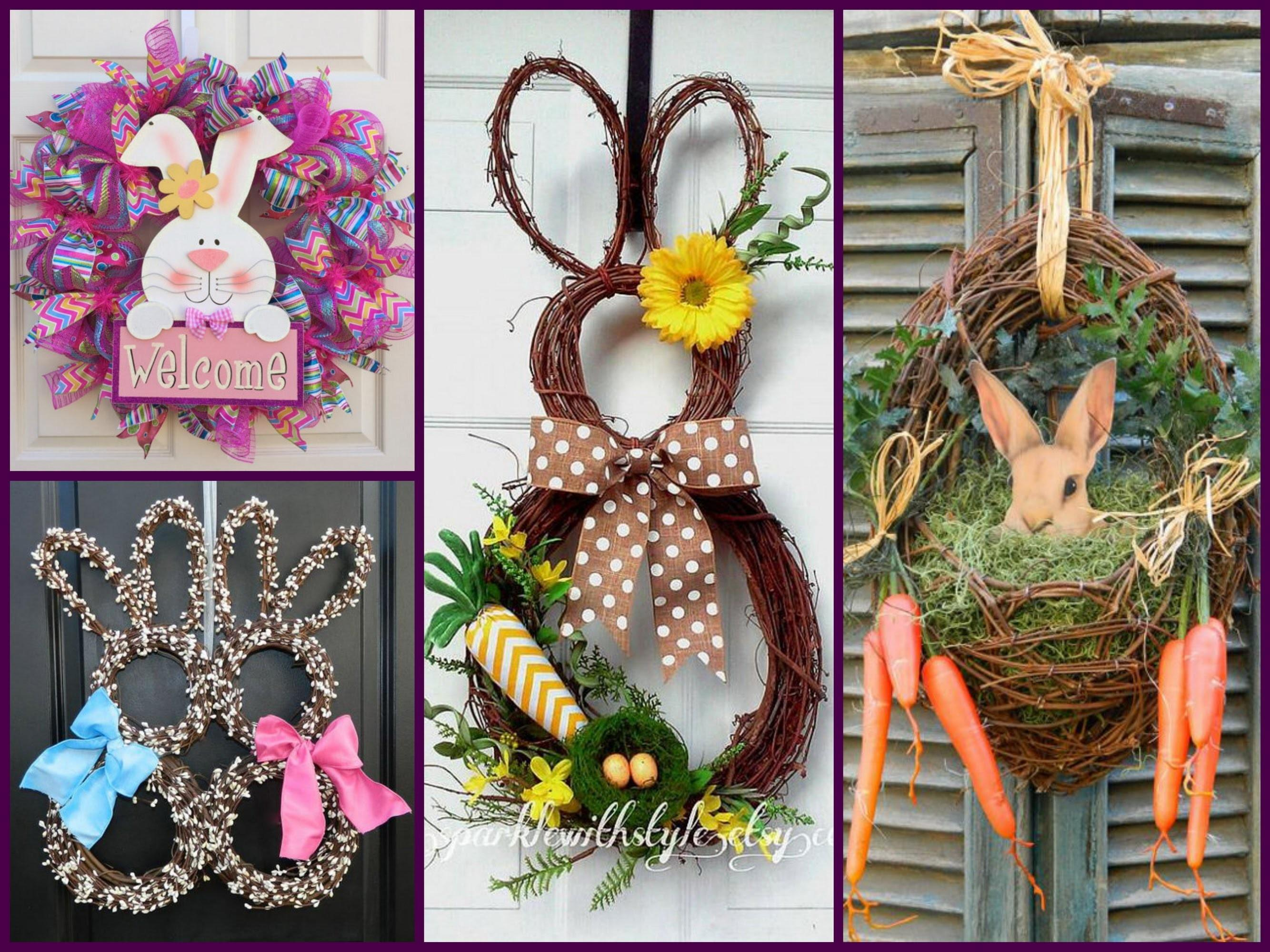 Easter Decorating Best Bunny Wreath Ideas Spring