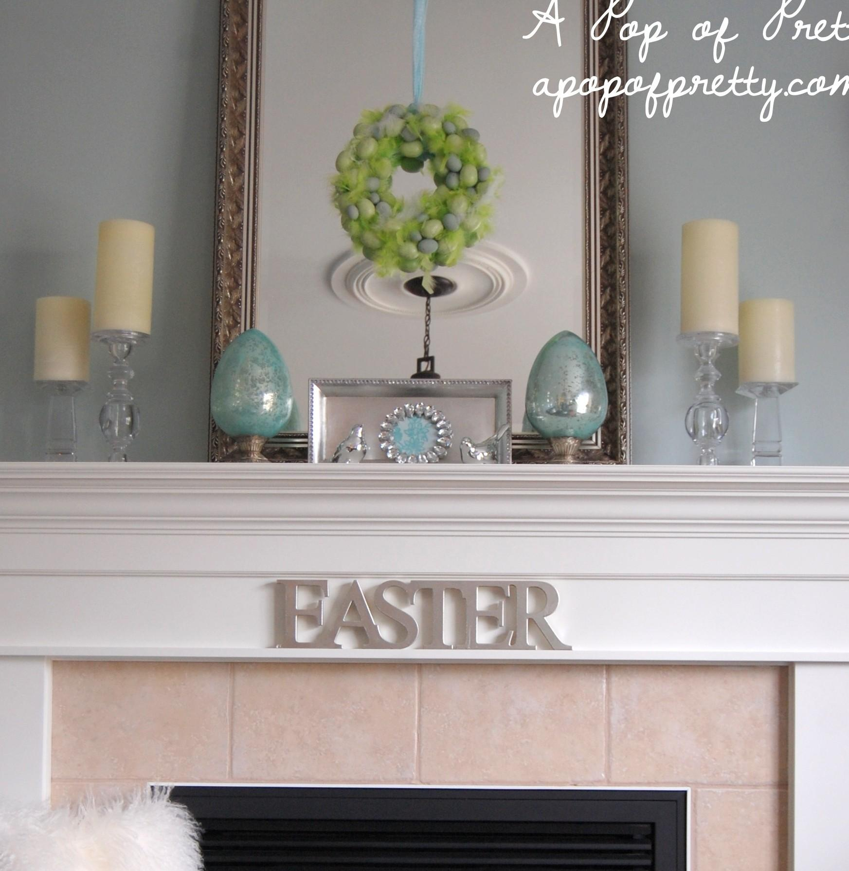 Easter Decorating Ideas Decorate Simple Mantel
