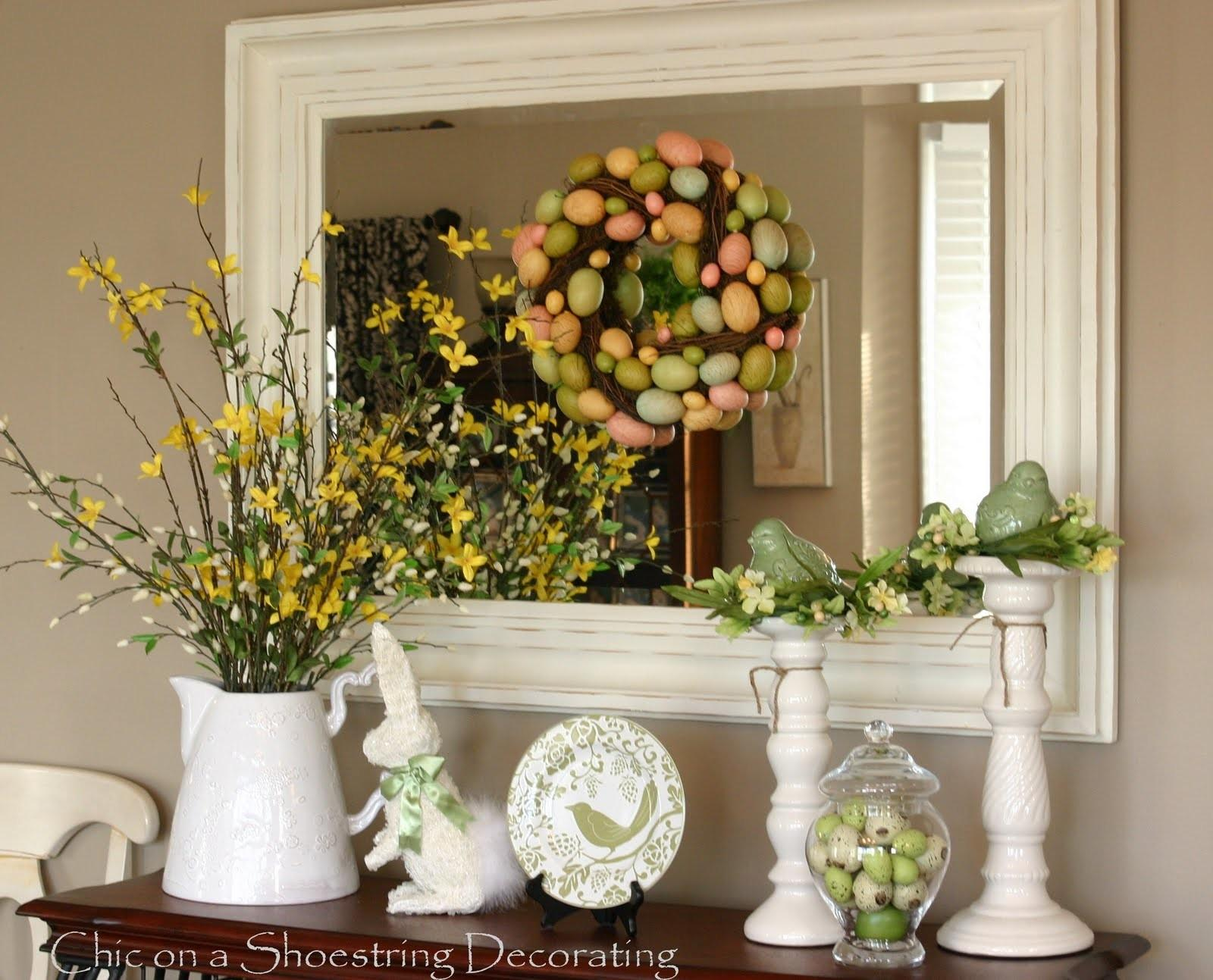 Easter Decorating Table Ideas Photograph Coffee