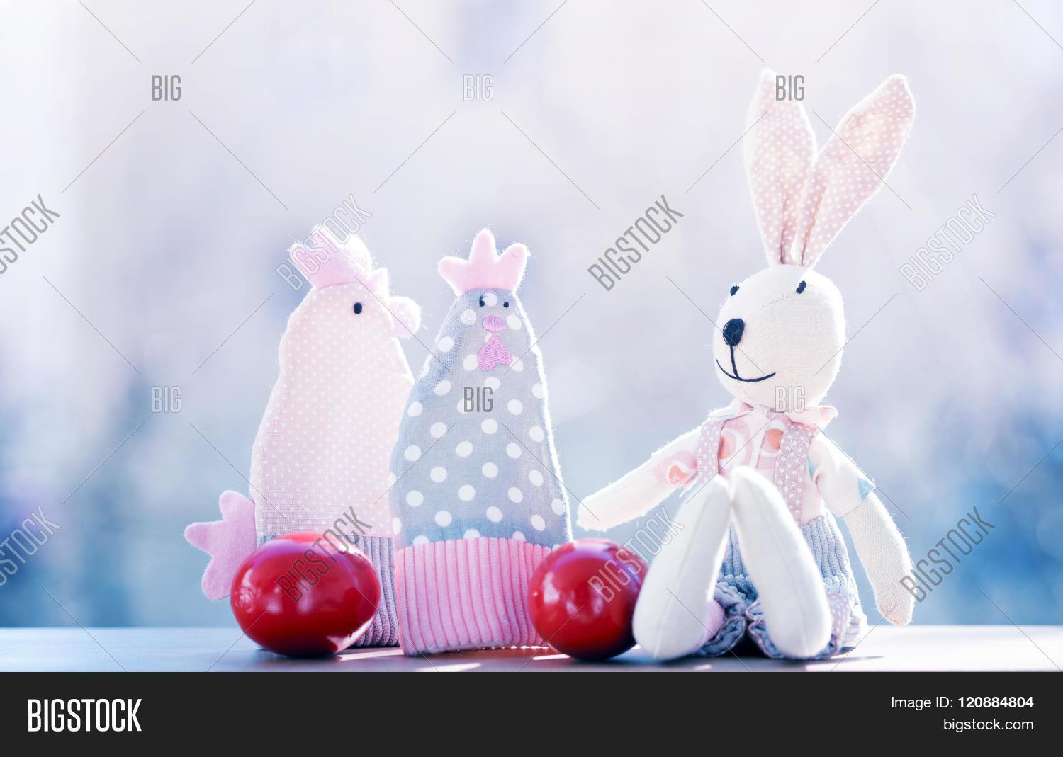Easter Decorations Red Eggs Holiday Stock