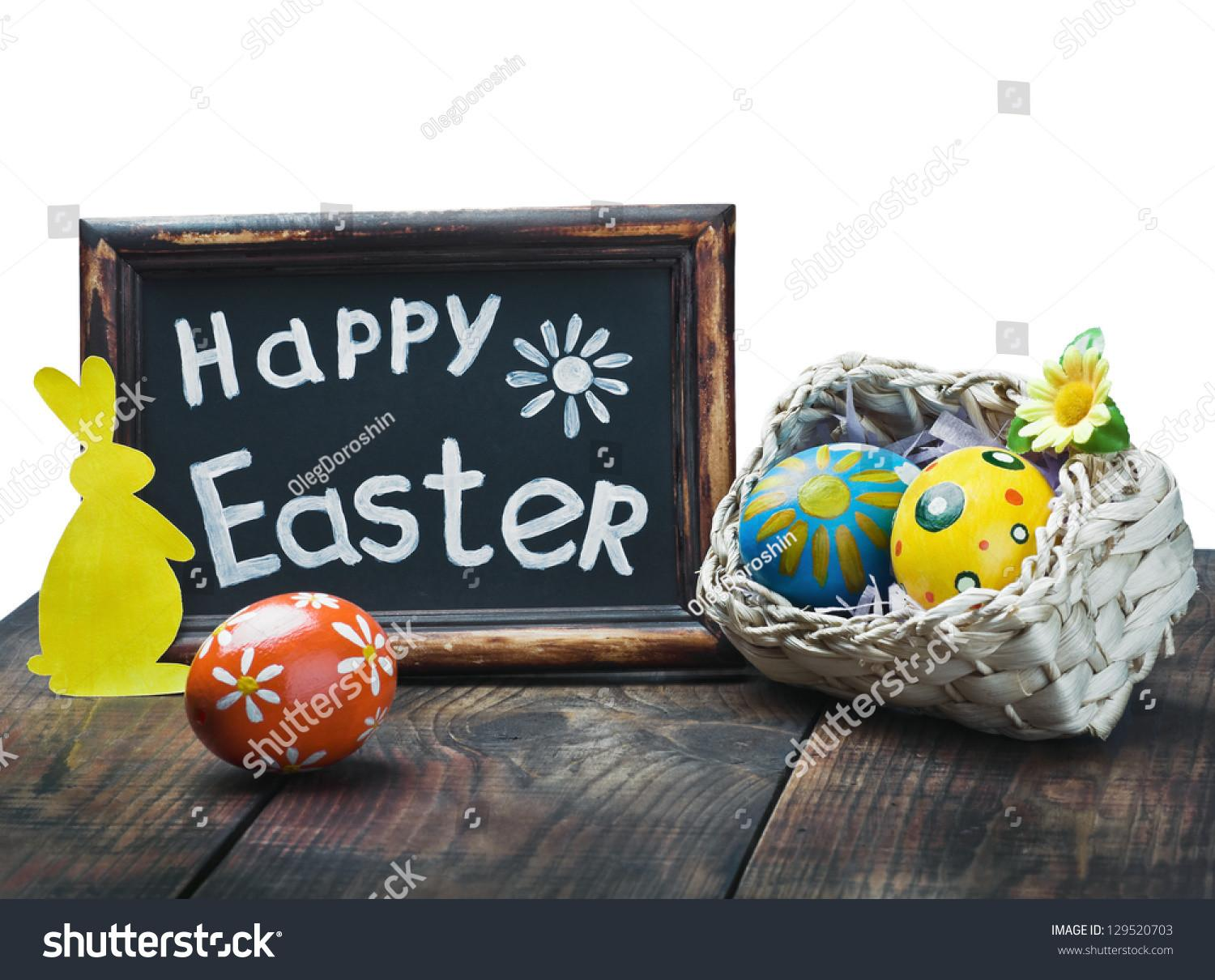 Easter Decorations White Isolated Stock