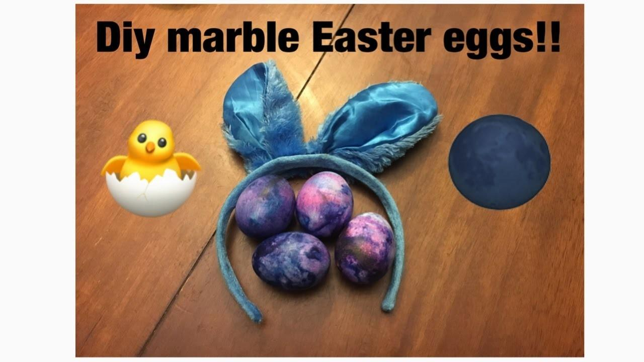 Easter Diy Marble Eggs Crafts Projects