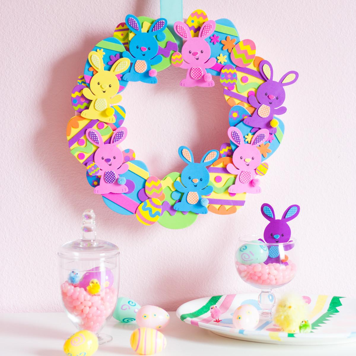 Easter Egg Bunny Wreath Craft