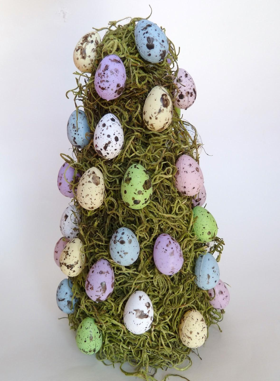 Easter Egg Moss Tree