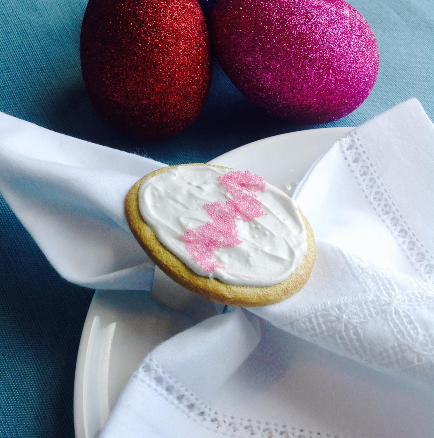 Easter Egg Sugar Cookie Napkin Rings Spring Table Decoration