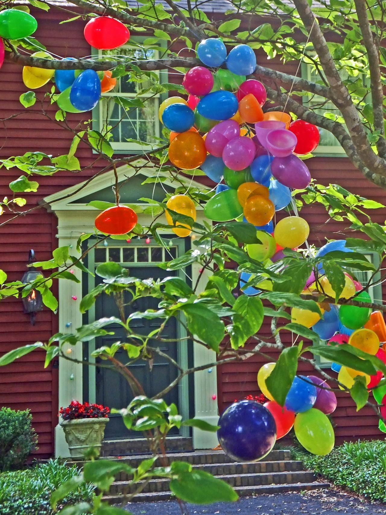 Easter Egg Tree Outdoor Decorating Ideas