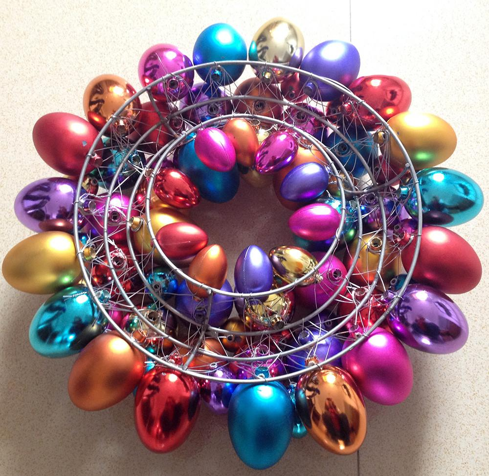 Easter Egg Wreath Decorations Metal Frame Buy