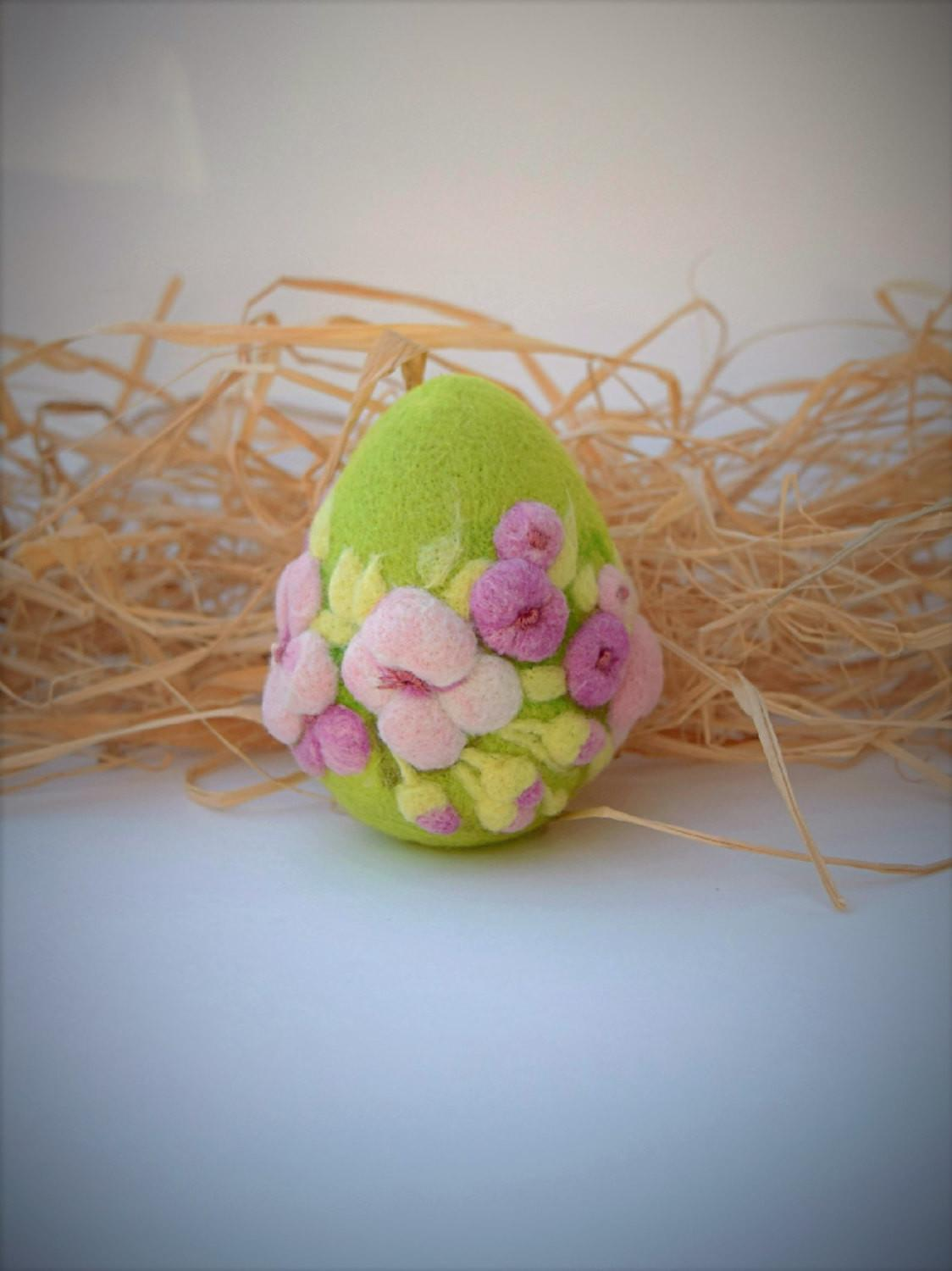 Easter Eggs Felted Ornament Home Decor Gift Wool