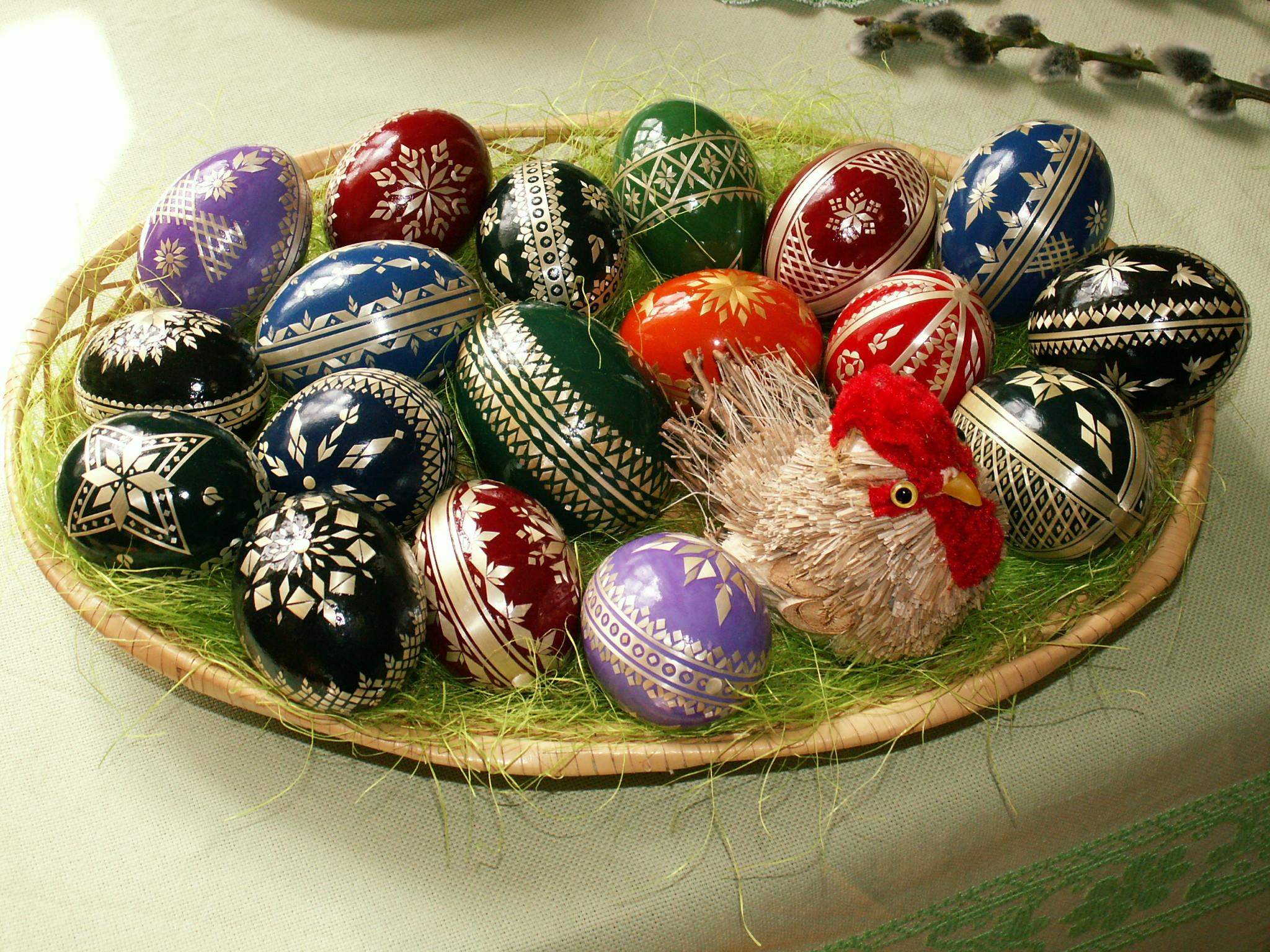 Easter Eggs Straw Decoration Wikimedia Commons