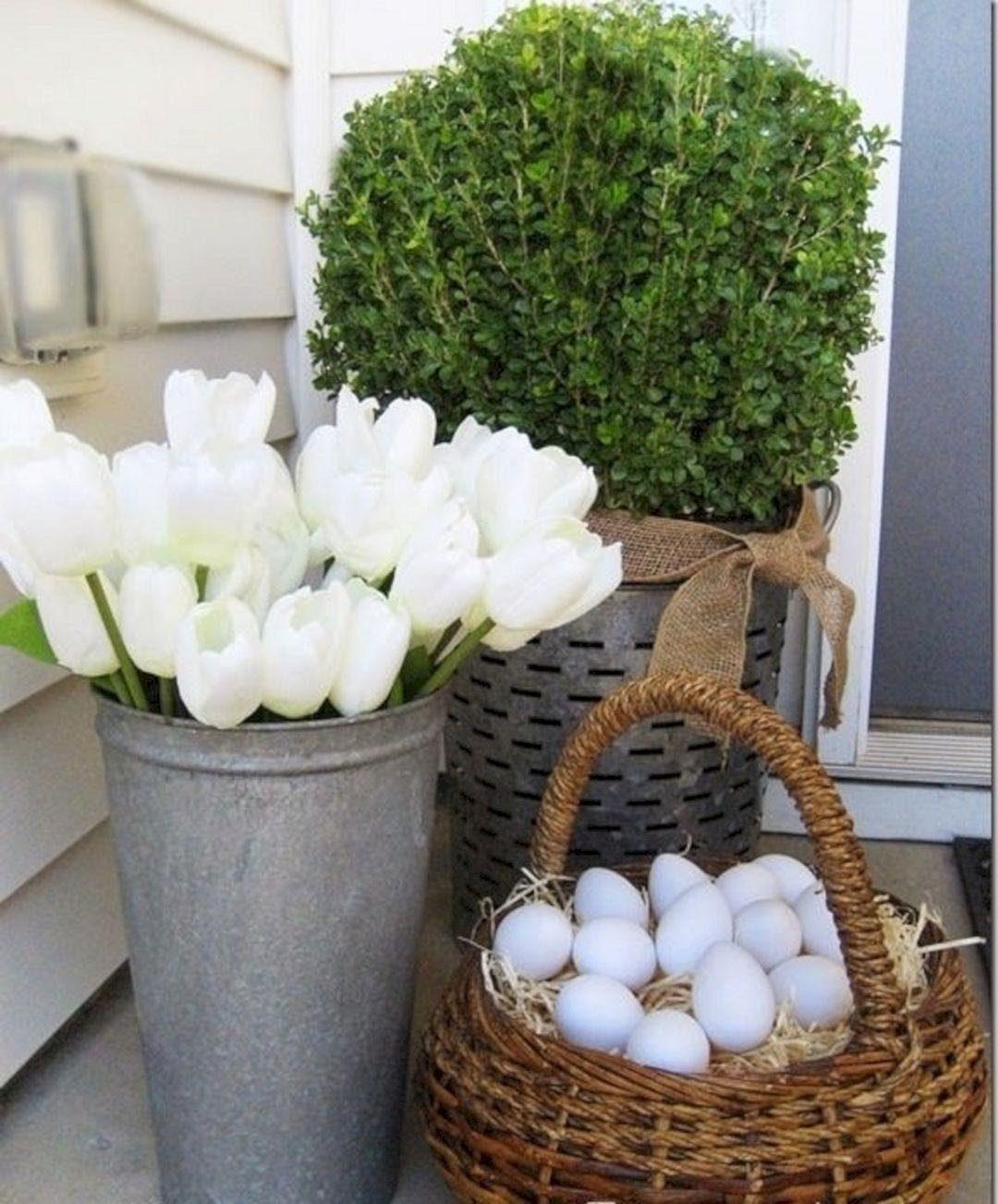 Easter Front Porch Spring Decorating Ideas Decoredo