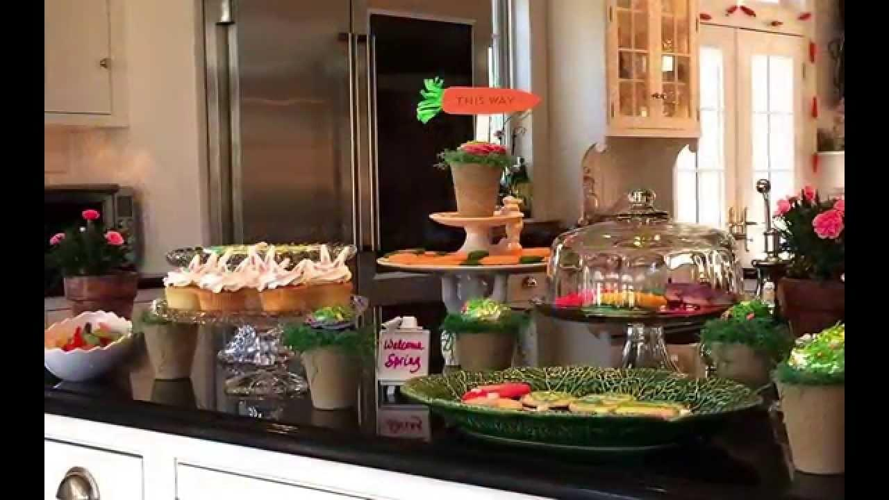 Easter Springtime Party Food Decorating Ideas Featuring
