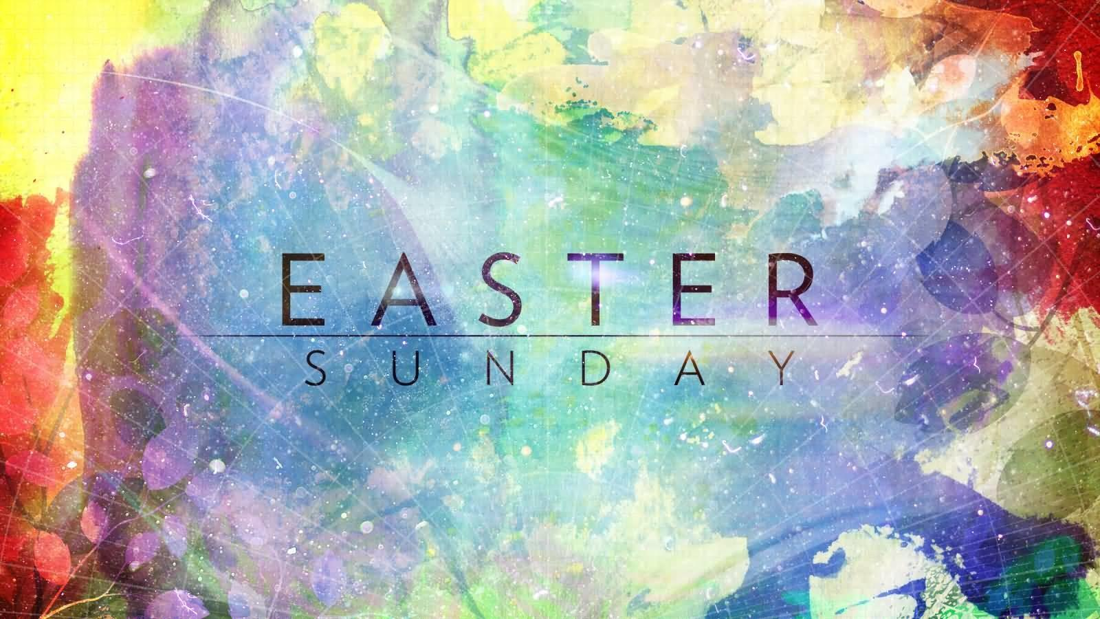 Easter Sunday Colorful Painted