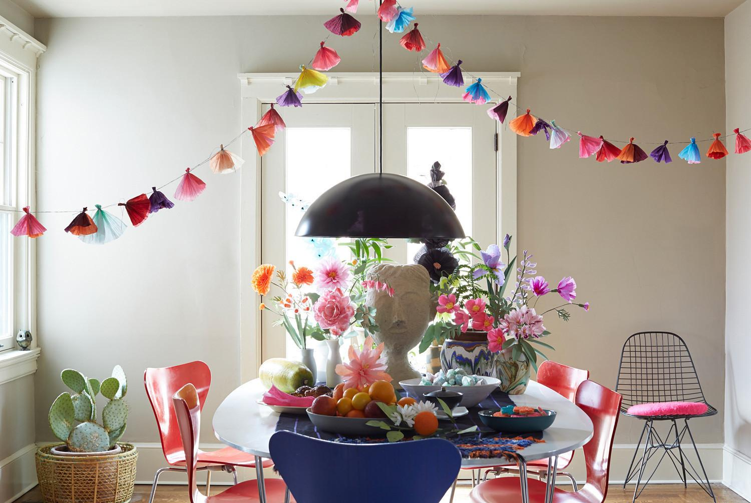 Easter Table Blooming Color Decorating Lonny