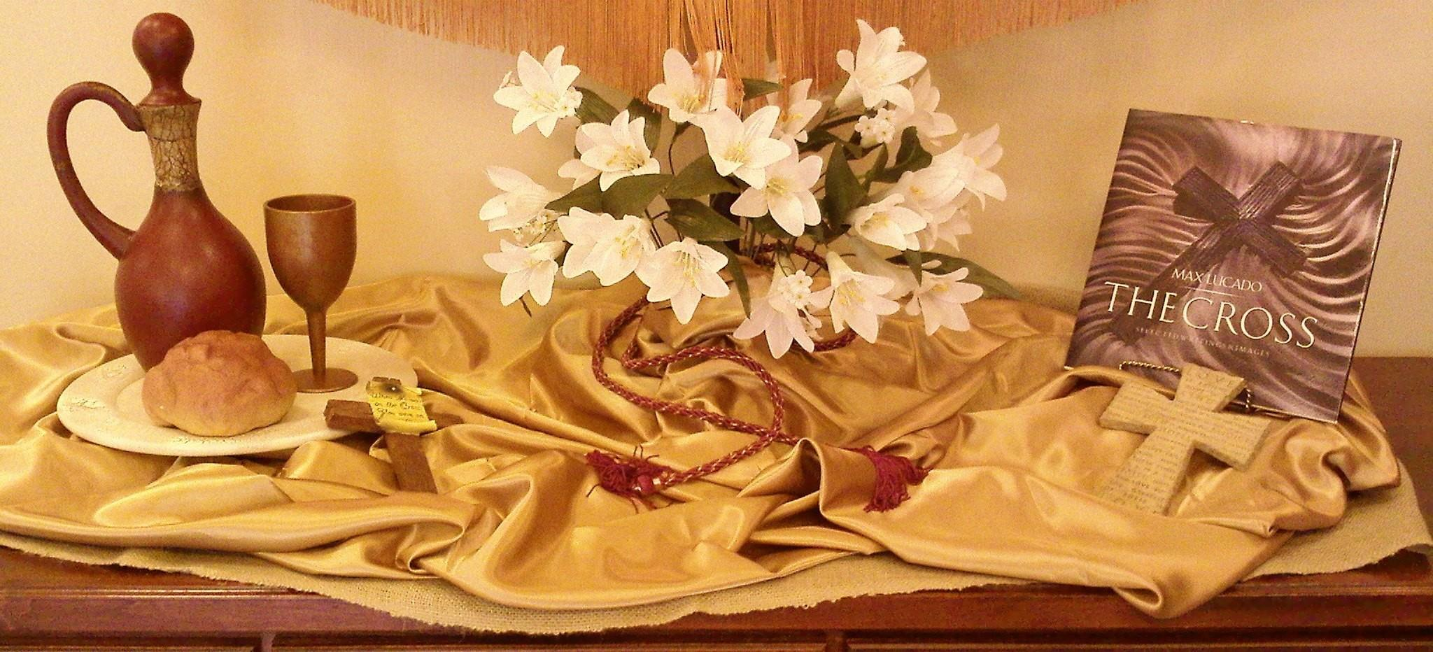 Easter Table Decoration Church Photograph