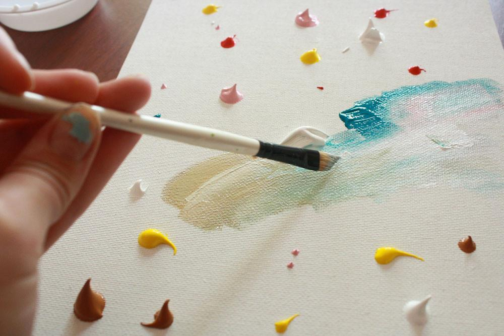 Easy Abstract Painting Diy Tutorial Making