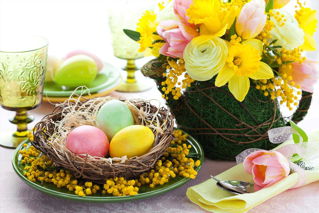 Easy Affordable Diy Easter Table Centerpieces