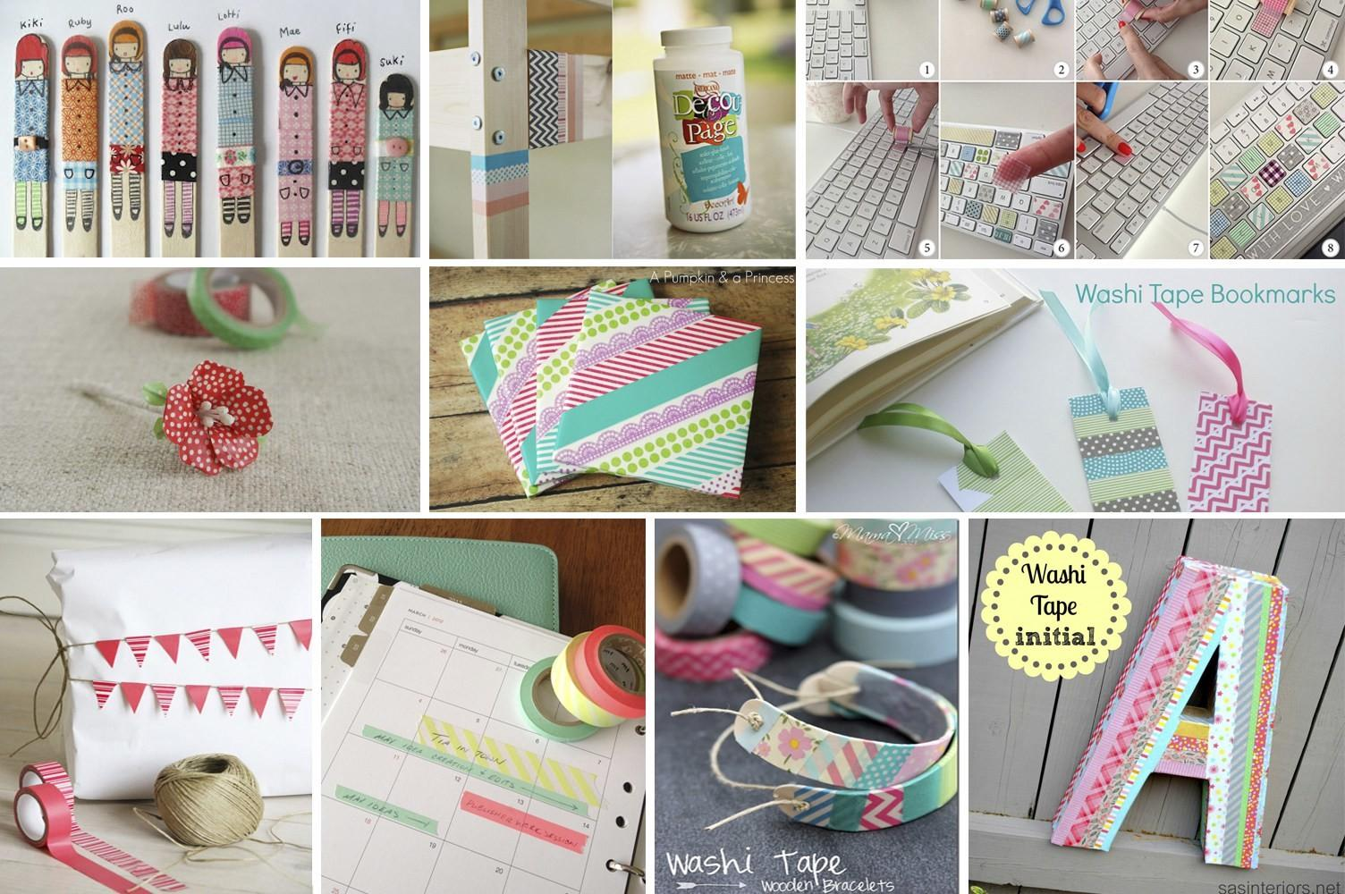 Easy Awesome Washi Tape Crafts Fancy Shanty