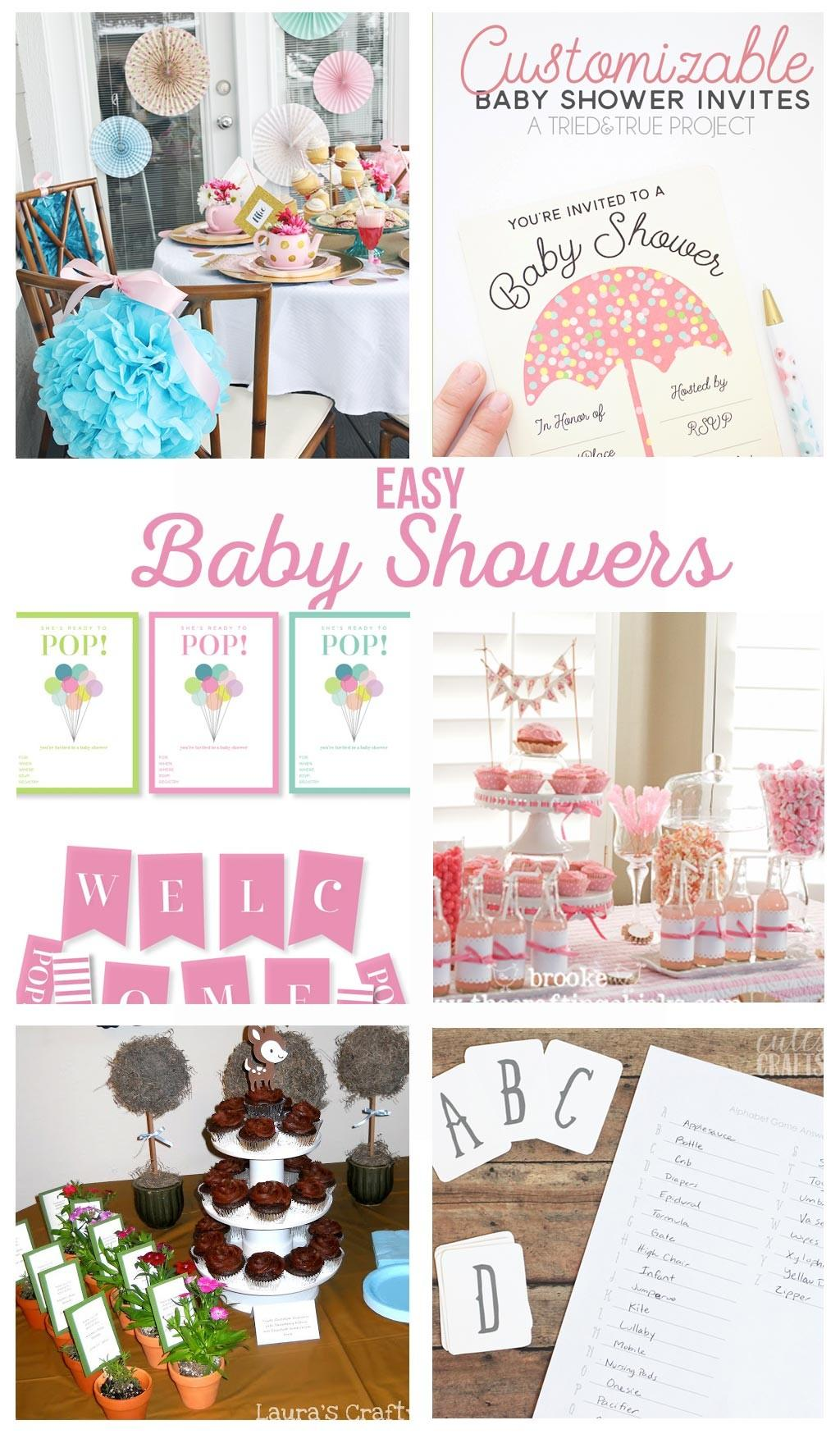 Easy Baby Shower Ideas Crafting Chicks