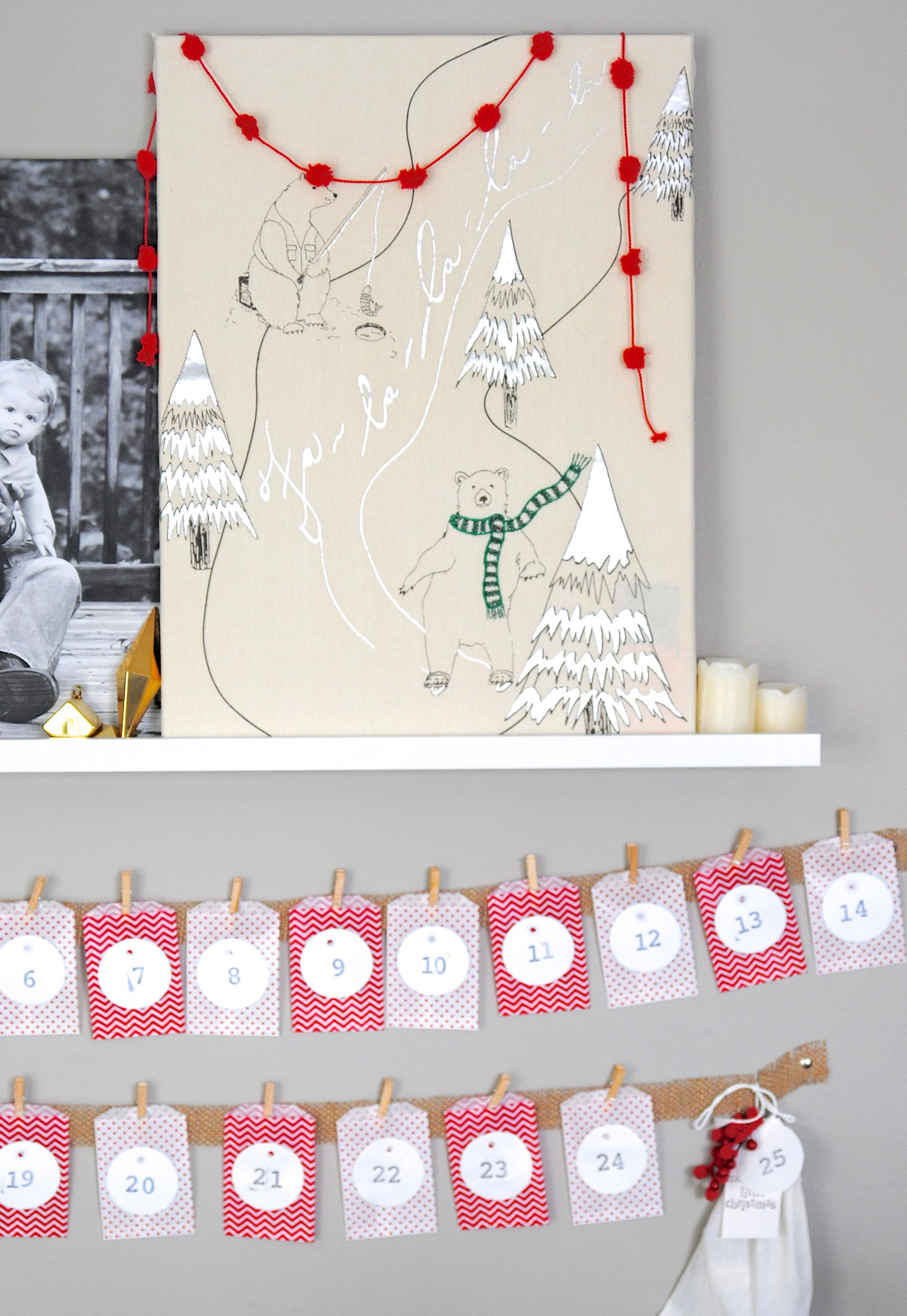 Easy Christmas Advent Calendar Kids Craft Idea Making