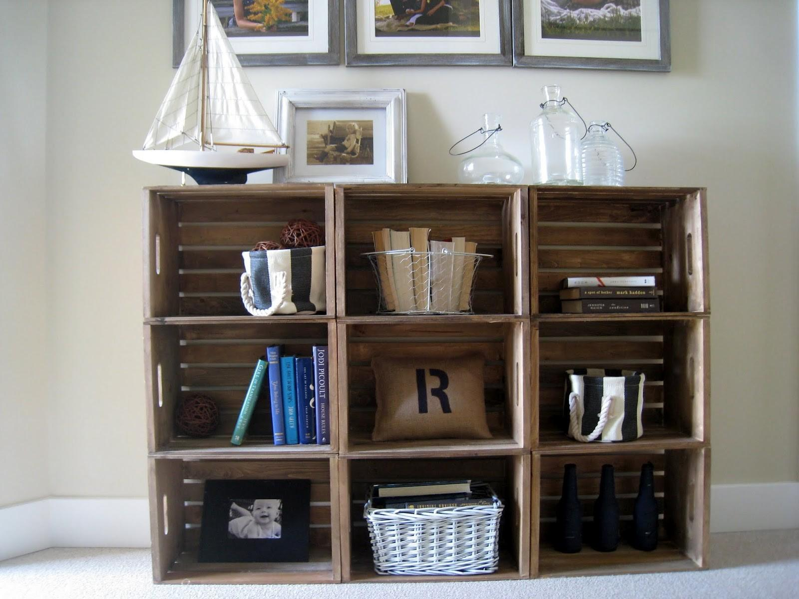 Easy Crate Bookshelves Lilypad Cottage