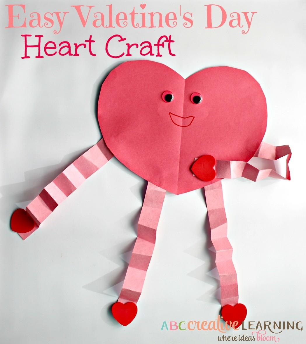 Easy Cute Valentine Day Heart Craft Kids