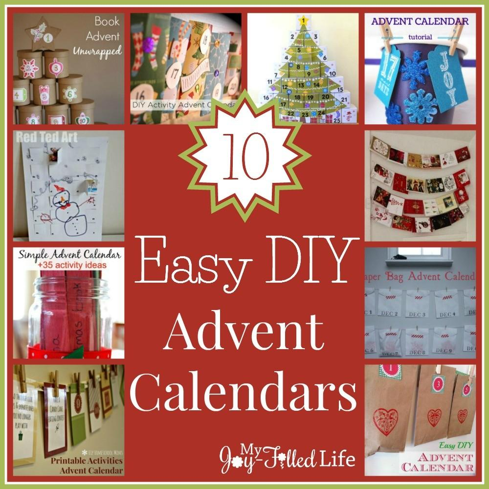 Easy Diy Advent Calendars Joy Filled Life